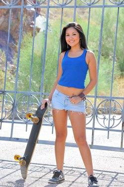 Photo #5 of 15+ | FTVGirls Brunette Teen Skateboarding