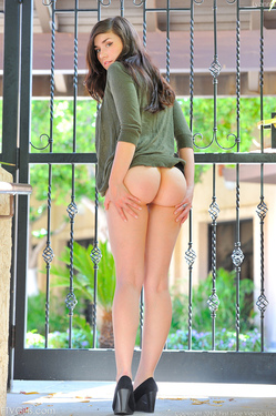 Busty Tattood Brunette Cutie Lyanna in Mini Skirt for FTV Girls - 06