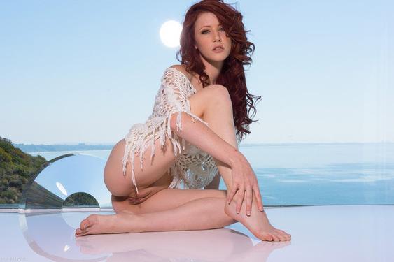 Lovely Redhead Beauty Elle Alexandra in Sky for Ron Harris - 00