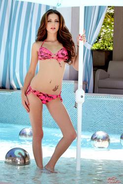 Photo #1 of 15+ | Brunette Cutie Kiera Winters in Pink Bikini for Holly Randall