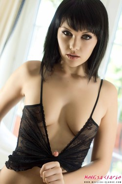 Mellisa Clarke in Lacy Black Top - 08