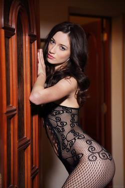 Hot Ass Brunette Zsanett Tormay in Black Fishnet Stockings in Isolato by Arkisi for Metart - 00