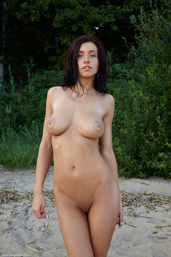 Photo #5 of 15+   Busty Brunette Babe OutDoors