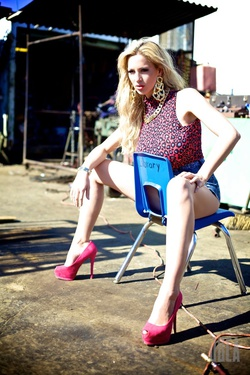 Long Legged Busty Goddess Jordan Carver in Tight Jeans Shorts - 14