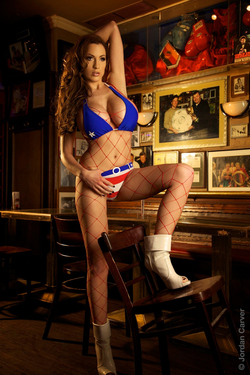 Photo #11 of 15+ | Magical Boobs Princess America in Fishnet Body for Pinup Files