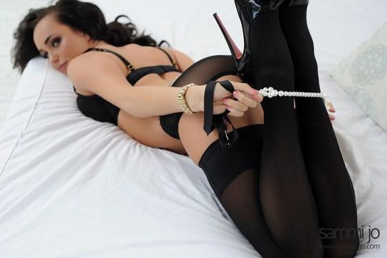 Sammi Jo in Sexy Black Stockings - 02