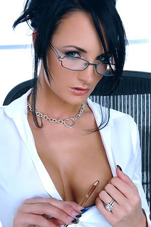 Busty Secretary Alektra Blue