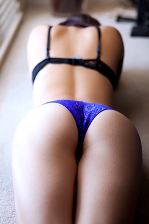 Hailey Leigh In Sexy Blue Panties