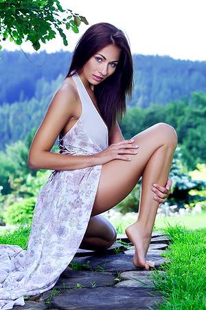 Michaela Isizzu Sundress And Panties