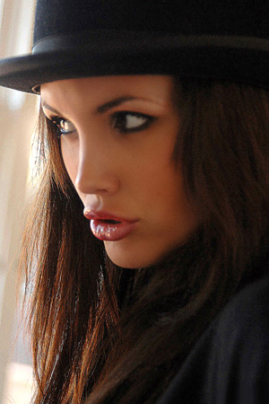 GirlFolio Brunette Babes Monica You Can Leave The Hat On
