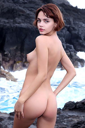 Ariel Strips Naked On The Cliffs