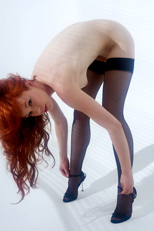 Justine Joli In Black Pantyhose
