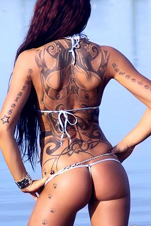 Inked Babe In Bikini