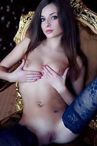 Sexy Skinny Teen Giulia in Black Lingerie is Gonqorismo for Errotica Archives