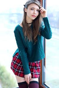 Mila Azul In Hot Mini Skirt And Sweater