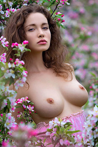 Curly Natural Beauty Vika A Nude Outdoors