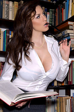 Jordan Carver in BookWorm via Pinup Files