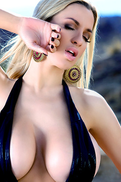 Busty Jordan Carver in Stella Huge Bikini via Pinup Files