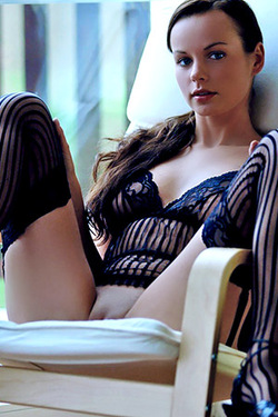 Nina A in Black Lingerie By Slastyonoff Biximi for Metart