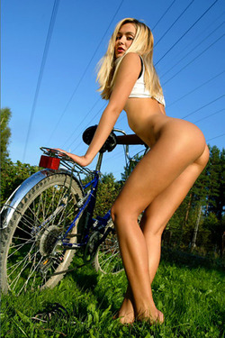 MPL Studios Blondes Lilya With Bycicle