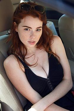Young Busty Sabrina In Short Summer Dress