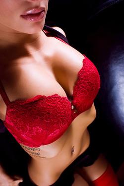 Angelina Red Bra